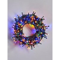 Product photograph showing Festive 500 Multi Coloured Sparkle Indoor Outdoor Christmas Lights