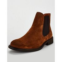 Selected Homme Selected Homme Baxter Suede Chelsea Boots, Brown, Size 12, Men