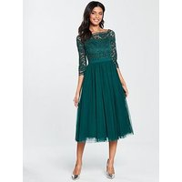 V By Very Bridesmaid Prom Dress - Green