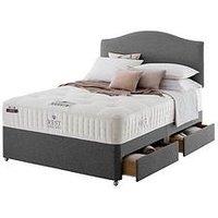 Rest Assured Tilbury Wool Tufted Divan Bed With Storage Options - Medium