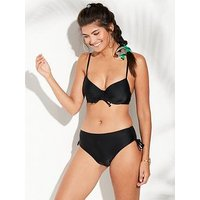 V by Very Mix & Match Moulded Underwired Bikini Top - Black, Black, Size 38E, Women