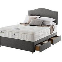 Product photograph showing Rest Assured Richborough Latex Pillowtop Divan Bed With Storage Options - Soft