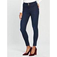 V by Very Shaping Skinny Jean - Indigo, Indigo, Size 22, Inside Leg Regular, Women