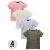 Mini V by Very Girls 4 Pack Ruffle T-shirts, Multi, Size Age: 2-3 Years, Women