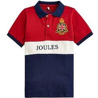 Joules Boys Harry Polo Shirt, Red, Size 5 Years