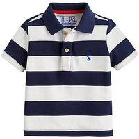 Joules Boys Filbert Pique Polo, Navy Stripe, Size 6 Years