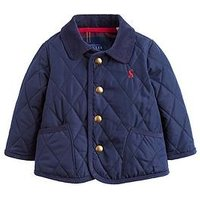 Joules Baby Boys Milford Quilted Jacket, Navy, Size 12-18 Months
