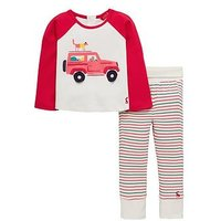 Joules Baby Boys Car Novelty Outfit, Red, Size 0-3 Months