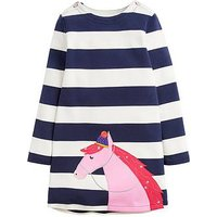 Joules Toddler Girls Kaye Stripe Horse Dress, Navy Stripe, Size 3 Years, Women