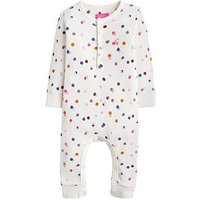 Joules Baby Girls Peppa Printed Babygrow, Cream, Size 3-6 Months