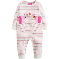 Joules Baby Girls Gracie Applique Babygrow, Multi Stripe, Size 6-9 Months