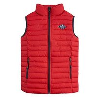 Joules Boys Crofton Packaway Gillet, Red, Size Age: 4 Years