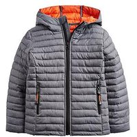 Joules Boys Cairn Marl Packaway Jacket, Grey Marl, Size Age: 7-8 Years