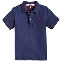 Joules Boys Woody Polo Shirt, Navy, Size 5 Years