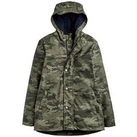 Joules Boys Dermot Waterproof Rubber Coat, Camo, Size Age: 4 Years