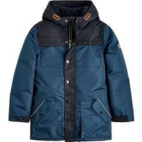 Joules Boys Playground Waterproof Coat, Navy, Size Age: 6 Years