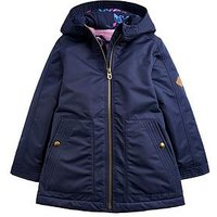 Joules Girls Waterfall Waterproof Coat, Navy, Size 9-10 Years, Women