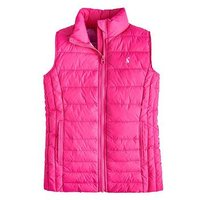 Joules Girls Croft Padded Gilet, Fuchsia, Size 6 Years, Women