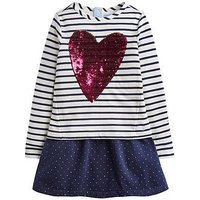 Joules Girls Lucy Layered Sweater Dress, Navy, Size 11-12 Years, Women