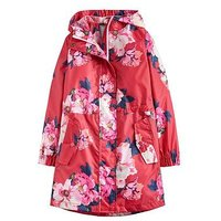 Joules Girls Go Lightly Waterproof Packaway Jacket, Pink, Size 5 Years, Women