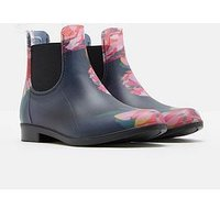 Joules Girls Floral Pvc Boot, Navy, Size 8 Younger