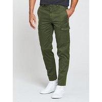 BOSS Slim Trouser, Olive, Size 48, Men