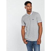 BOSS Tipped Polo Shirt, Grey, Size L, Men