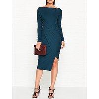 Vivienne Westwood Anglomania Vian Drape Long Sleeve Dress - Teal
