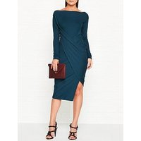 Vivienne Westwood Anglomania Vian Drape Long Sleeve Dress - Teal