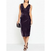 Vivienne Westwood Anglomania Virginia Velvet Dress - Dark Grey