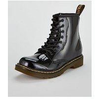 Dr Martens 1460 Patent 8 Lace Boot, Black, Size 10 Younger