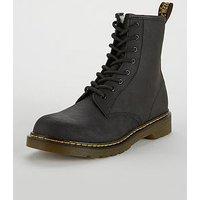 Dr Martens Serena Fur Lace Boot, Black, Size 11 Younger