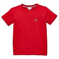 Lacoste Boys Short Sleeve Classic T-Shirt, Red, Size 8 Years