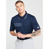 adidas Golf 3 Stripes Mesh Collar Polo, Collegiate Navy, Size S, Men