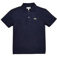 Lacoste Sports Boys Short Sleeve Polo, Navy, Size 6 Years