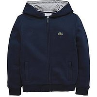 Lacoste Sports Boys Zip Through Hoodie, Navy, Size 4 Years