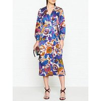Whistles Maia Autumn Bloom Jacquard Dress - Multicolour