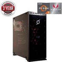 Zoostorm Stormforce Onyx Amd Ryzen 5, 8Gb Ram, 1Tb Hard Drive, Gaming Pc With Amd Vega Graphics