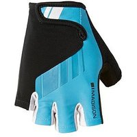 MADISON Peloton Men's Cycle Mitts - Cyan Blue, One Colour, Size Large, Men