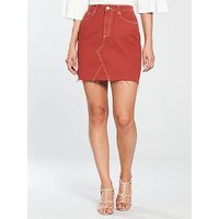 V by Very A-Line Skirt - Rust, Rust, Size 12, Women