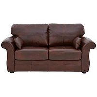 Product photograph showing Vantage Italian Leather Sofa Bed