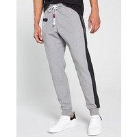 Champion Colour Block Joggers - Grey Marl, Navy/Grey, Size 2Xl, Men