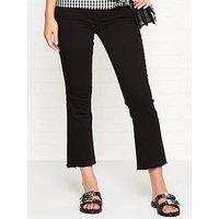 J Brand Selena Crop Bootcut Raw Hem Jeans - Black Bastille