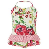 Monsoon Baby Annie Floral Swimsuit, Ivory, Size 2-3 Years