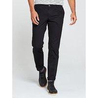 HUGO Slim Fit Chino Trouser, Black, Size 56 = Uk 40, Length Regular, Men