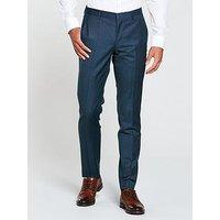 Hugo by Hugo Boss Hugo by Hugo Boss Birdseye Slim Fit Suit Trouser, Bright Blue, Size 48, Inside Leg Regular, Men