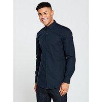 HUGO Plain Longsleeve Shirt, Navy, Size 41 = Uk 16, Men