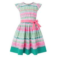 Monsoon Sasha Dress, Green, Size 11-12 Years, Women