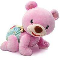 VTech Baby V-Tech Crawl Along Bear - Pink, One Colour