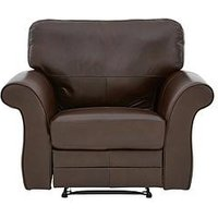 Vantage Leather Manual Recliner Armchair